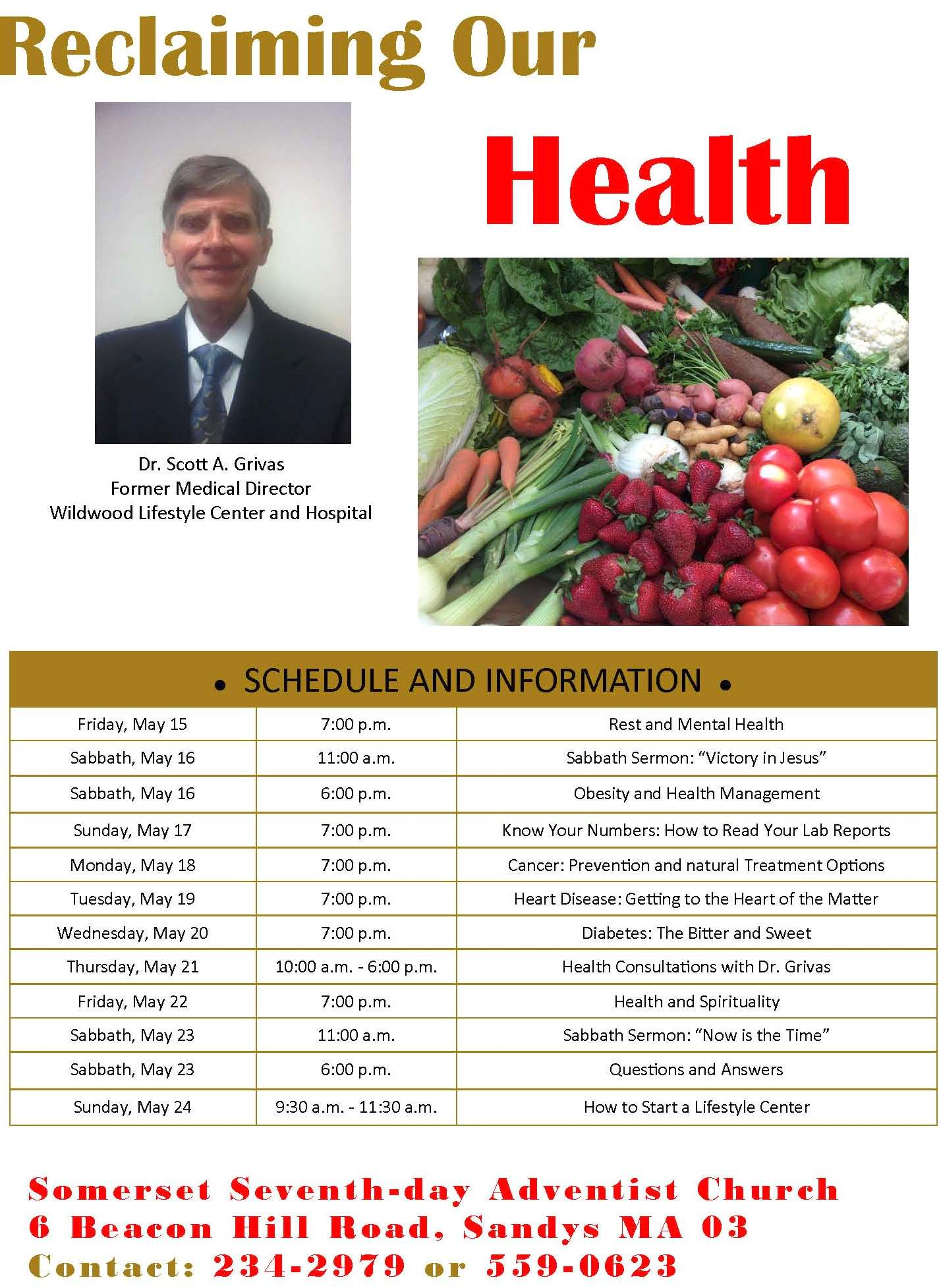 """Sabbath Sermon: """"Now is the Time"""" – Reclaiming Our Health"""