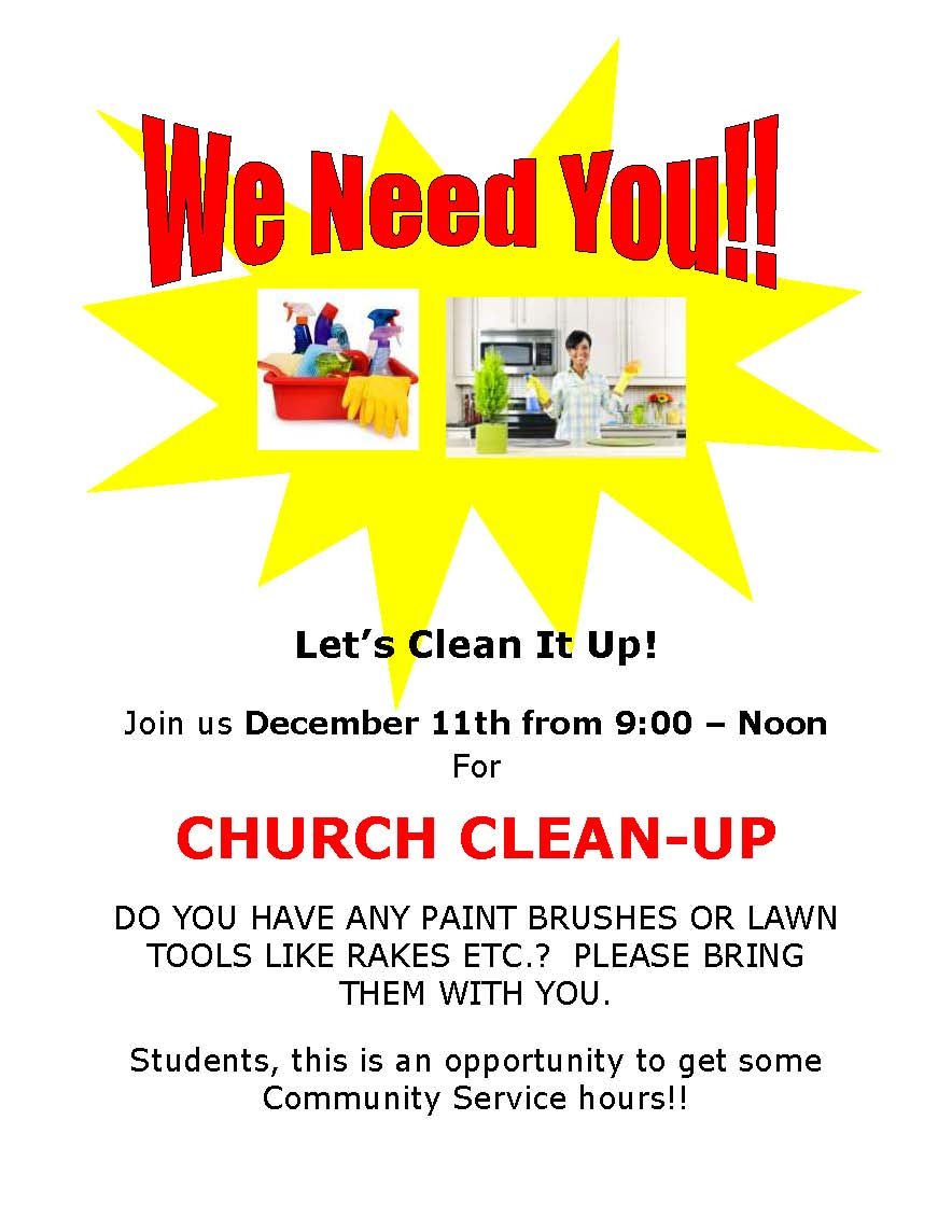 2016 church clean up